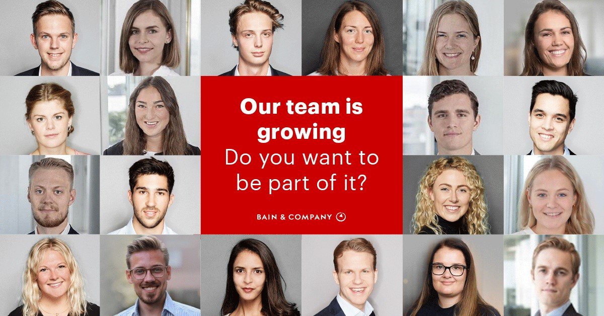 Bain & Company Associate Consultant | Our team is growing – do you want to be part of it?